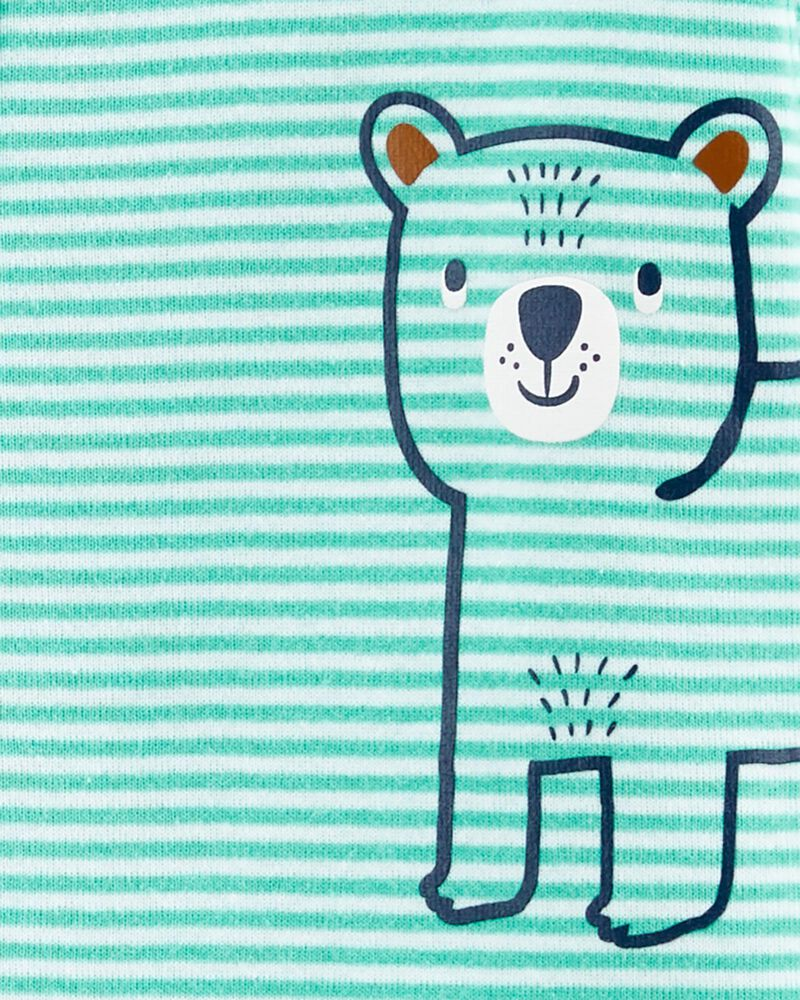 1-Piece Striped 100% Snug Fit Cotton PJs, , hi-res