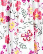Robe bohémienne à volants fleurie, , hi-res