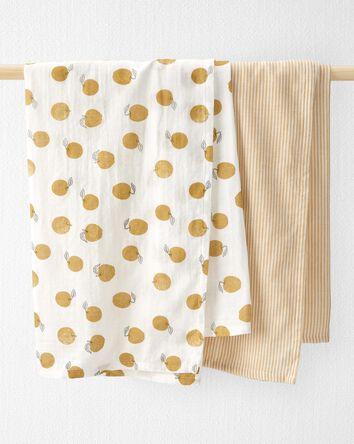 2-Pack Organic Cotton Muslin Swaddl...
