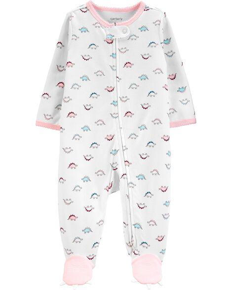 Dinosaur 2-Way Zip Cotton Sleep & Play