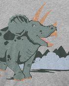 T-shirt en jersey à dinosaure, , hi-res