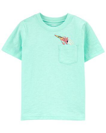 T-shirt à poche et avion