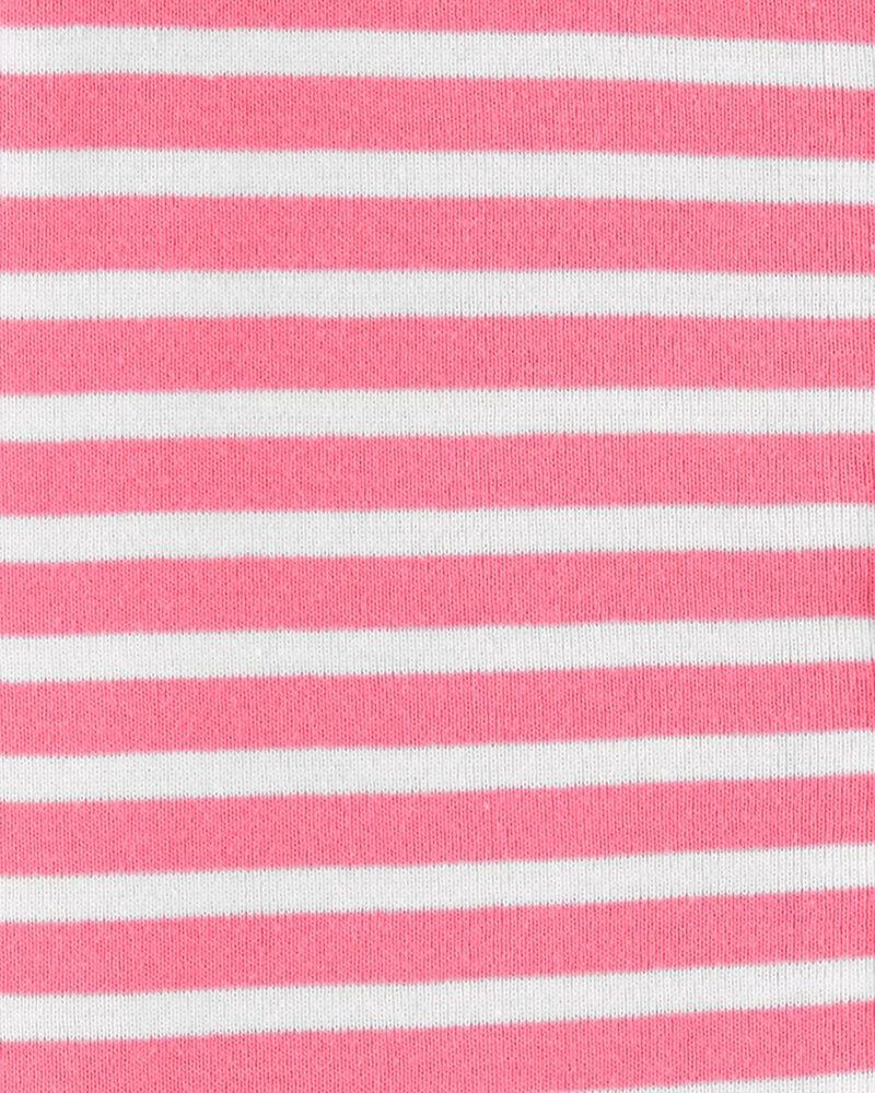 Pyjama barboteuse 1 pièce rayé en coton ajusté , , hi-res