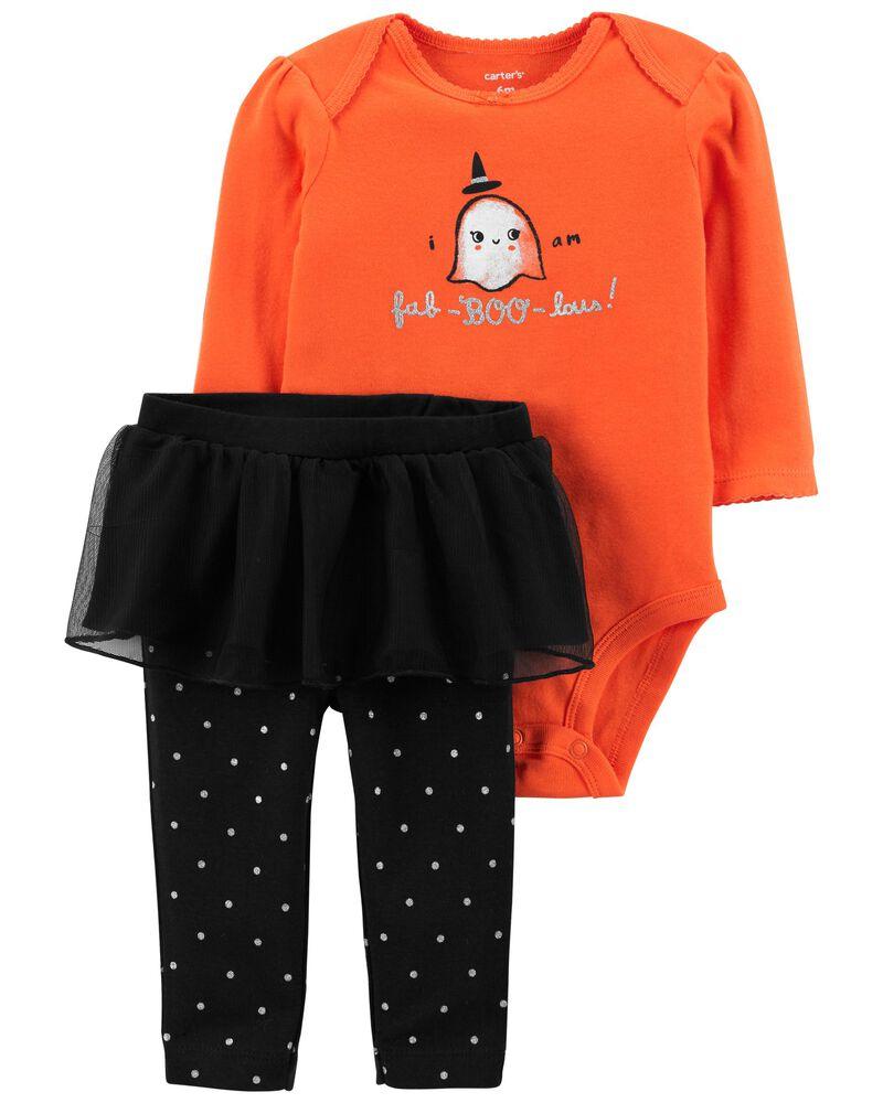 2-Piece Halloween Bodysuit & Tutu Pant Set, , hi-res