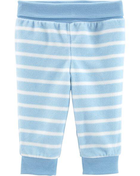 Pantalon en molleton rayé