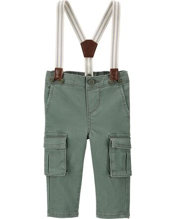 Stretch Cargo Suspender Pants