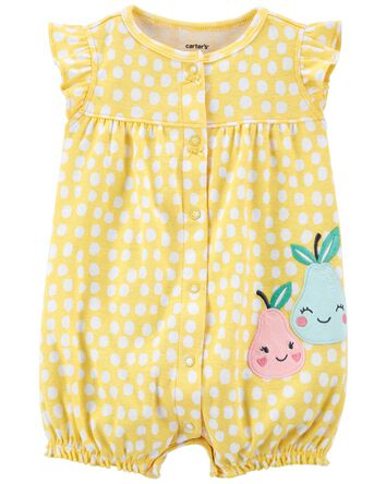 Pear Snap-Up Romper