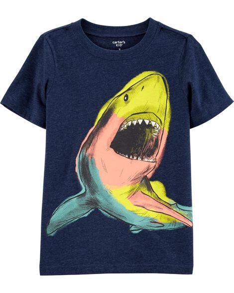 T-shirt en jersey chiné requin qui brille