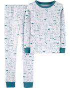 2-Piece Dog Snug Fit Cotton PJs, , hi-res