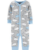 Whale Snap-Up Cotton Sleep & Play, , hi-res