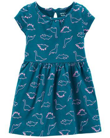 Robe en jersey à dinosaure