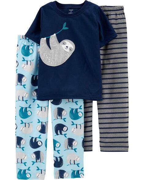 Pyjama 3 pièces en polyester à paresseux