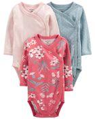 3-Pack Side-Snap Bodysuits, , hi-res