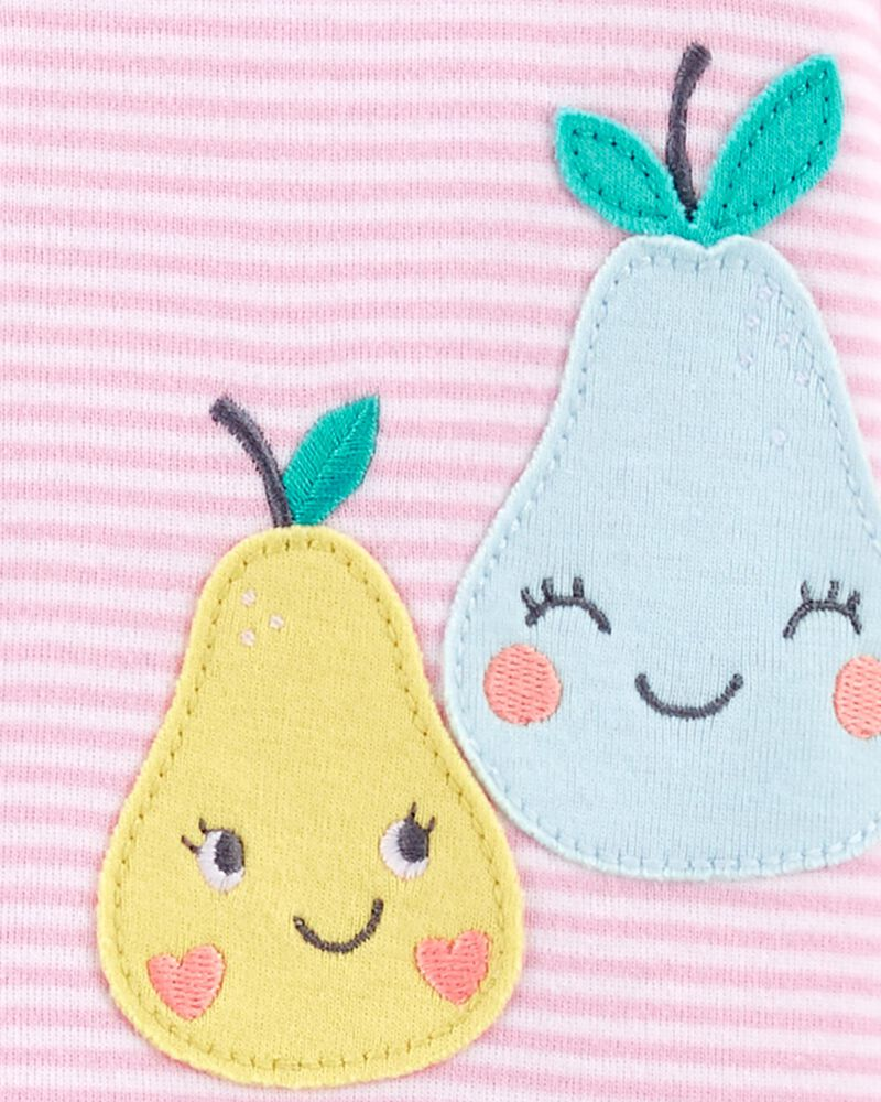1-Piece Pear 100% Snug Fit Cotton Footie PJs, , hi-res