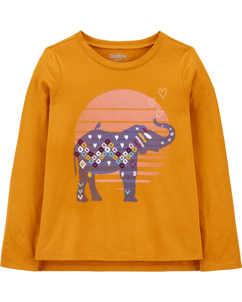 T-shirt à éléphant, , hi-res
