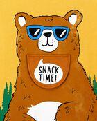 T-shirt en jersey à ours sous rabat , , hi-res