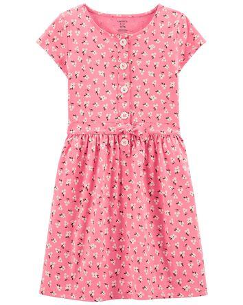 Floral Tie-Front Dress