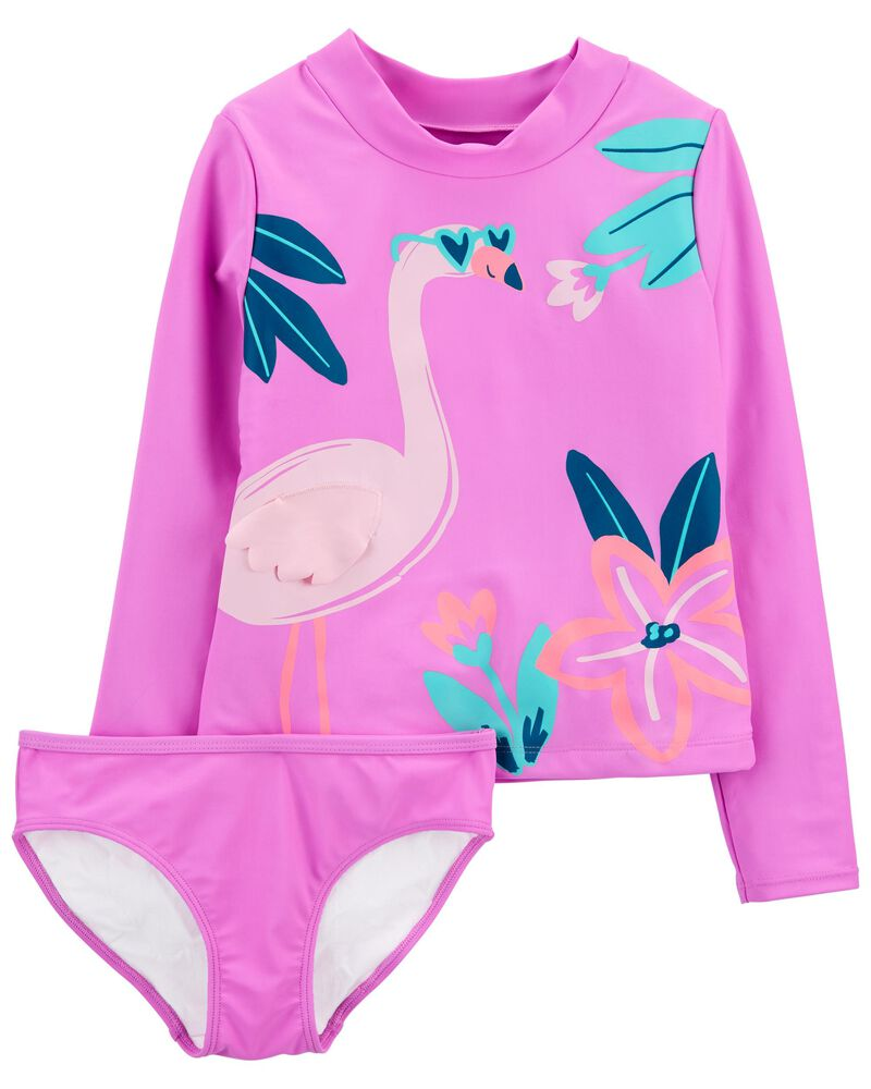 2-Piece Flamingo Rashguard, , hi-res