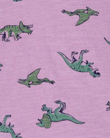Polo en jersey flammé dinosaure