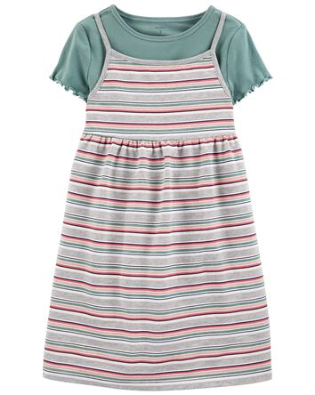 2-Piece Tee & French Terry Dress Se...
