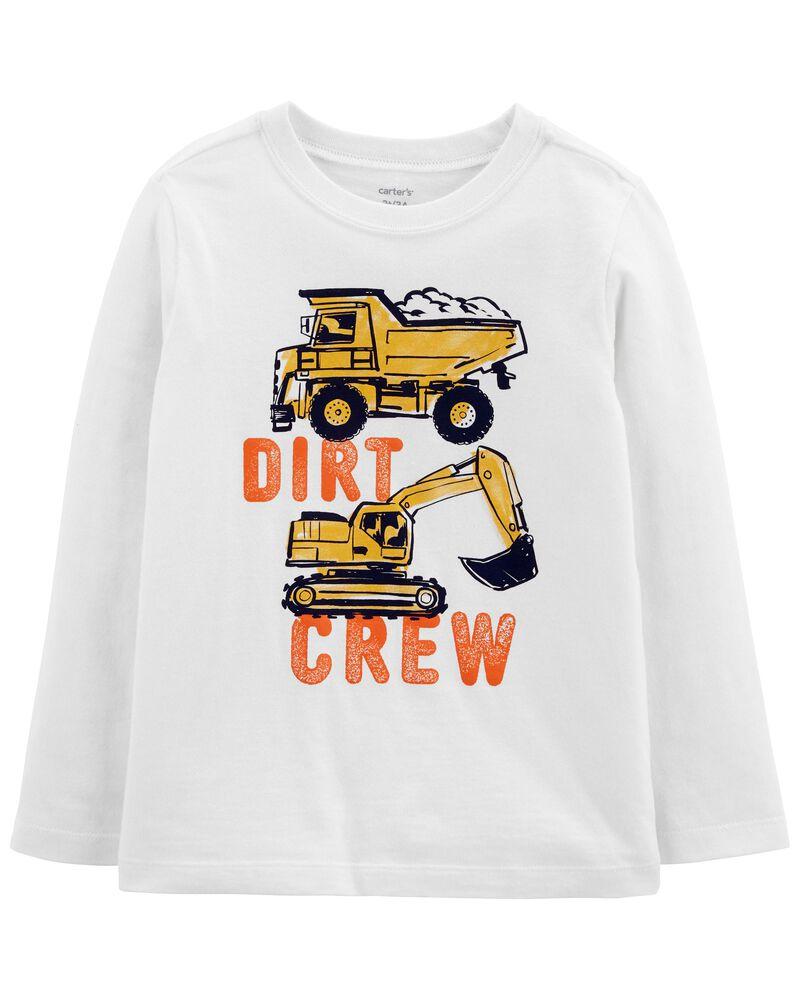 T-shirt en jersey avec motif de construction, , hi-res