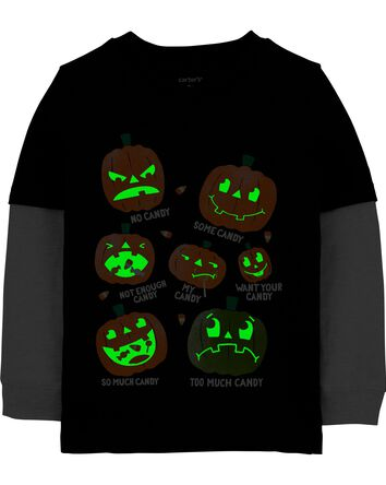 Halloween Layered-Look Jersey Tee