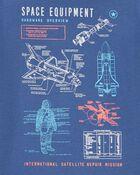 T-shirt en jersey navette spatiale, , hi-res