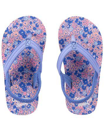 Floral Flip Flops