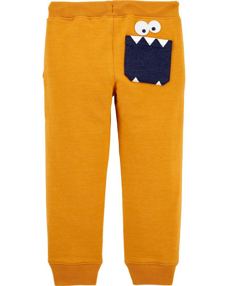 Pantalon de jogging à enfiler en jersey bouclette monstre, , hi-res