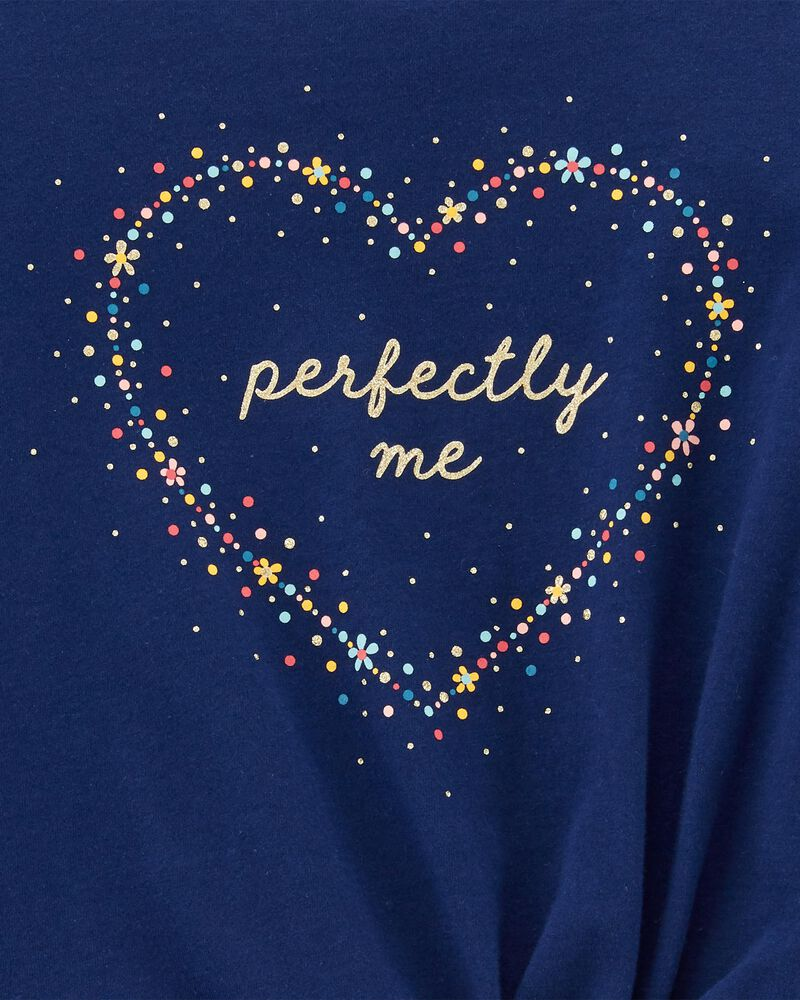 Perfectly Me Tie-Front Jersey Tee, , hi-res
