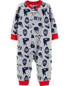 Hockey 1-Piece Fleece Footless PJs, , hi-res