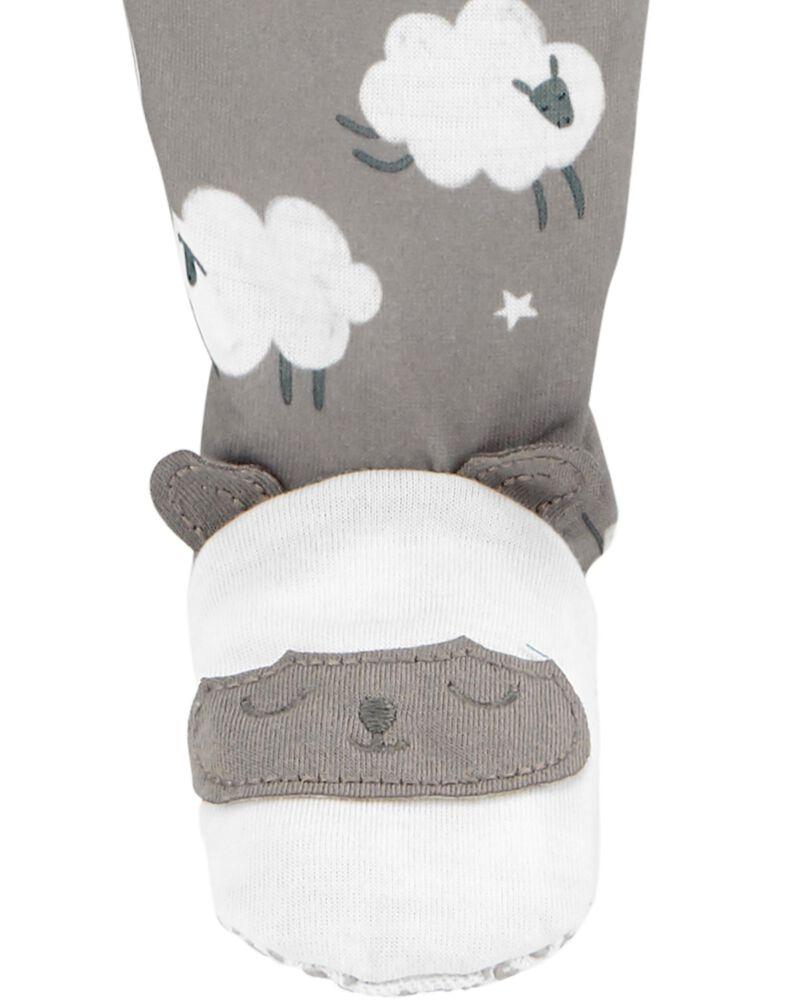 1-Piece Sheep Loose Fit Footie PJs, , hi-res