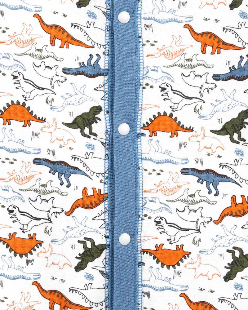 1-Piece Dinosaur 100% Snug Fit Cotton Footless PJs, , hi-res