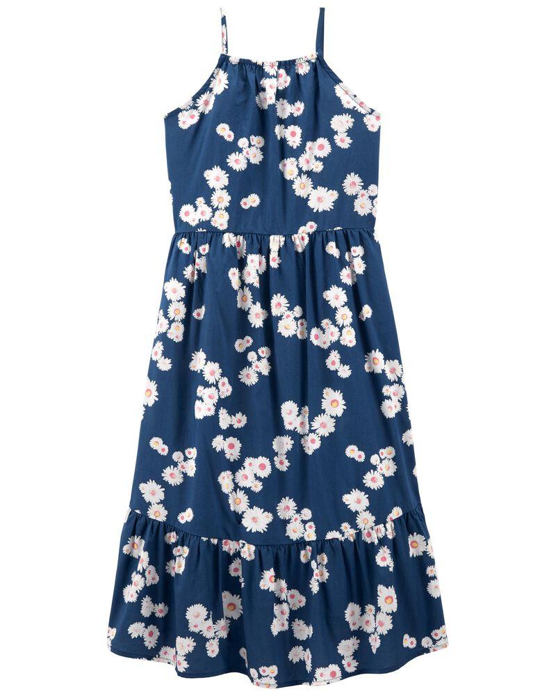 Robe bain-de-soleil fleurie asymétrique, , hi-res
