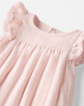 Organic Cotton Pointelle Bodysuit D...