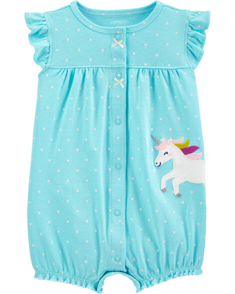 Unicorn Snap-Up Romper