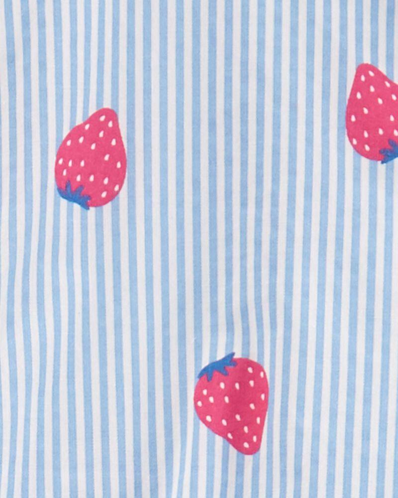 Ensemble 2 pièces haut rayé à fraise et legging , , hi-res