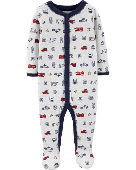 Hero Snap-Up Cotton Sleep & Play