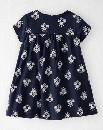 Organic Cotton Wrap-Front Dress