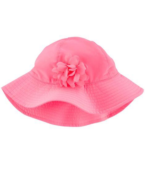 Chapeau de soleil à rosette