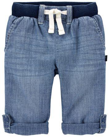 Pantalon convertible en chambray
