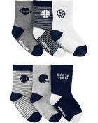 6 paires de chaussettes mi-mollet de sport, , hi-res