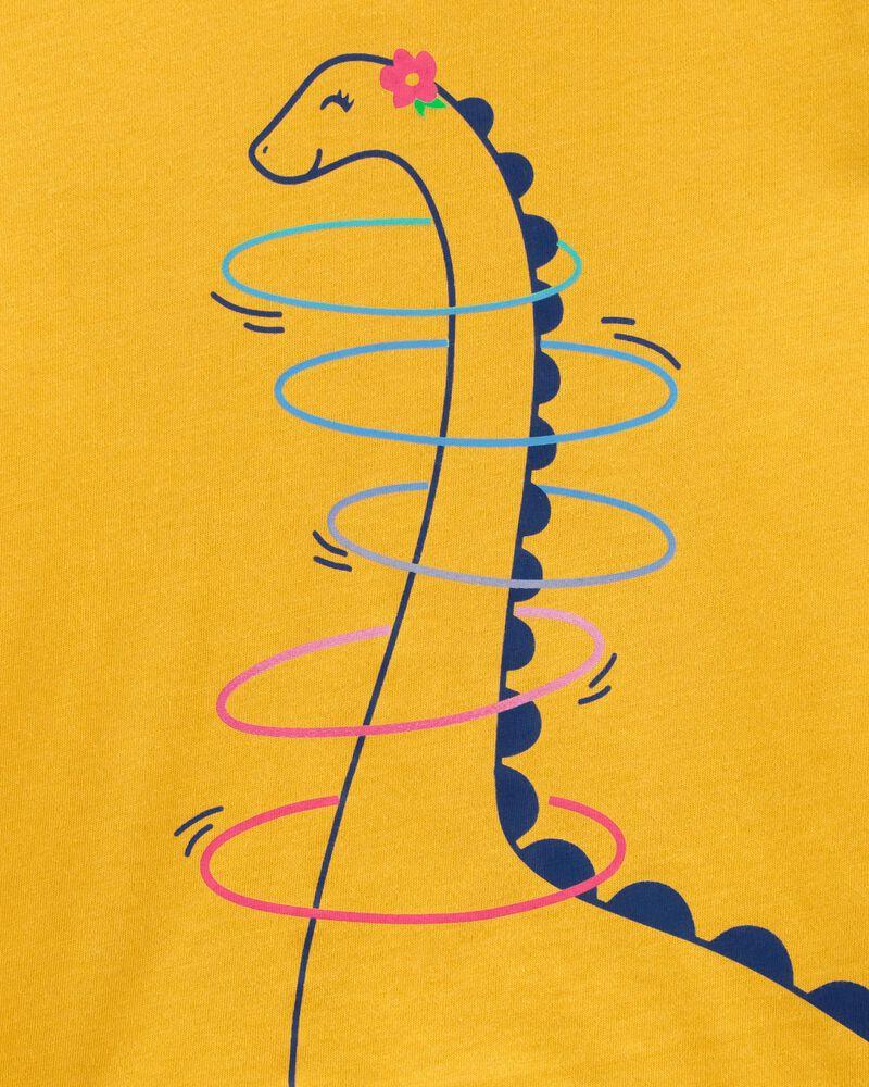 T-shirt en jersey à dinosaure qui fait du cerceau, , hi-res