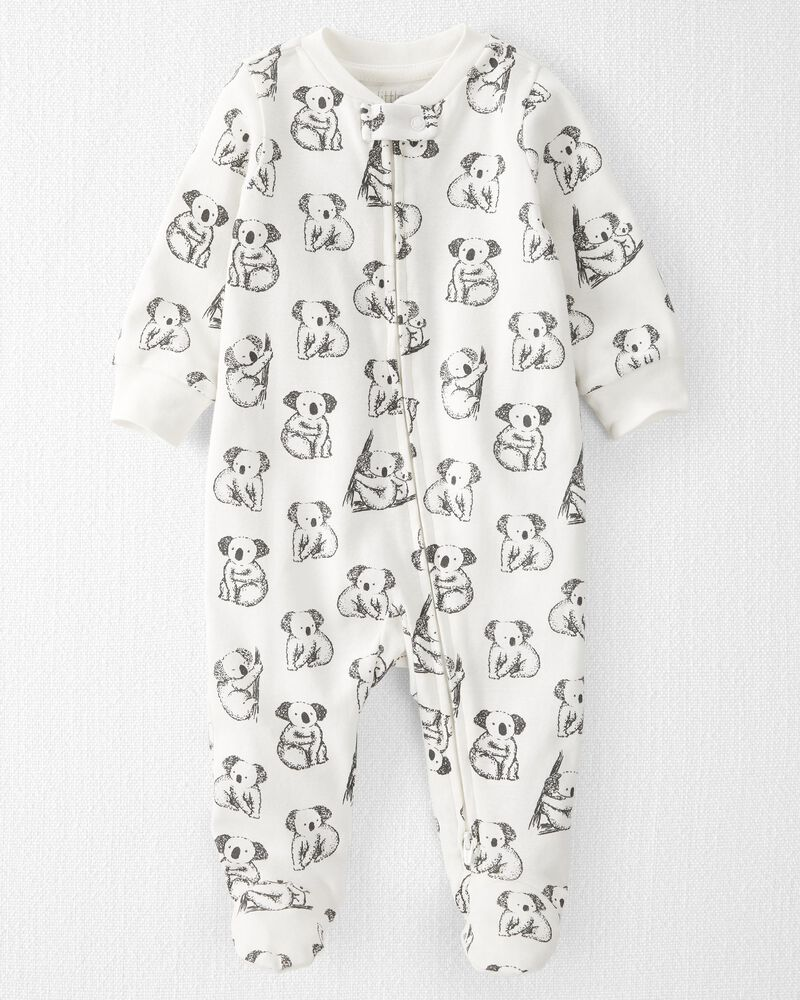 Organic Cotton 2-Way Zip Sleep & Play, , hi-res