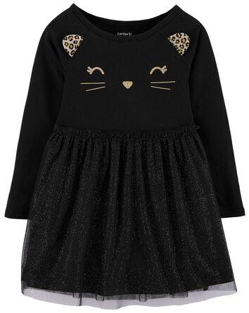 Halloween Cat Tutu Jersey Dress