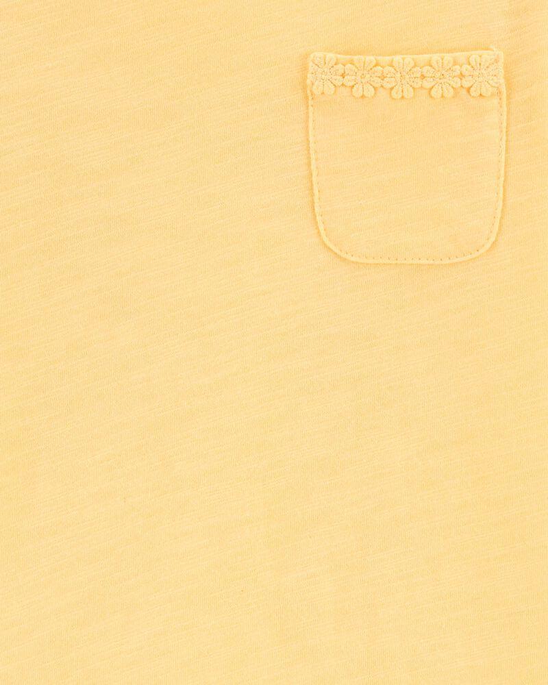 Haut à ourlet avec marguerite, , hi-res