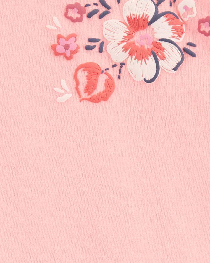 Floral Peplum Top, , hi-res