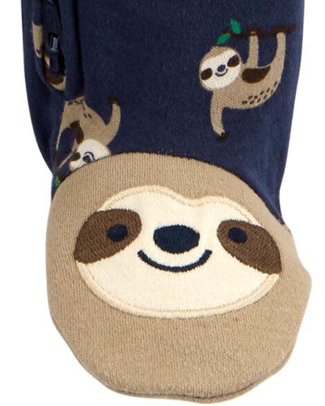 Sloth 2-Way Zip Cotton Sleep & Play