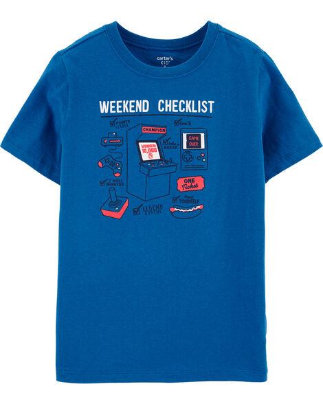 T-shirt en jersey Weekend Checklist