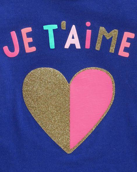 Tunique en jersey à imprimé scintillant